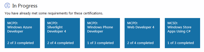 My certifications in progress